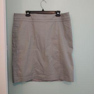LOFT skirt, 18, grey knee length